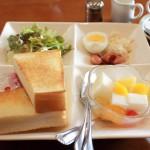 サラダモーニングセット(食パン)